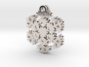 Blizzard Snowflake Earrings in Rhodium Plated Brass