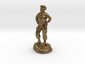 Billy, the demonic kid, in urchin attire. in Natural Bronze