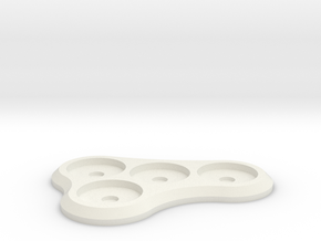 15mm 4-man Mag Tray 1 in White Strong & Flexible