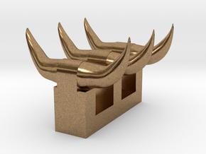 3 sets of short horns in Natural Brass