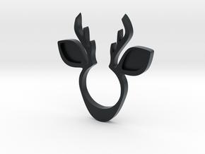Deer Ring in Black Hi-Def Acrylate