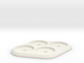 20mm 4-man Mag Tray in White Strong & Flexible
