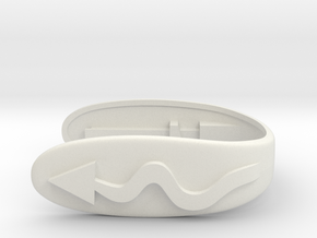 KEY FOB CURVES   in White Natural Versatile Plastic