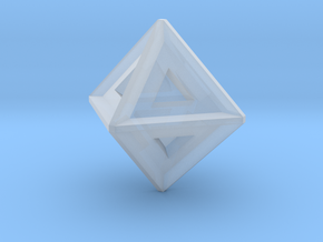 Octahedron in Smooth Fine Detail Plastic: Large