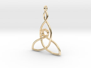 Mother And Child Knot with mount for gem in 14K Yellow Gold