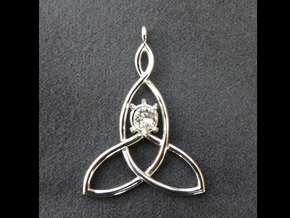 Mother And Child Knot with mount for gem in Platinum