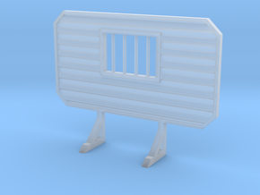 1/87 HO headache rack with window and bars in Smooth Fine Detail Plastic