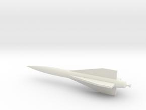 1/72 Scale Hawk Missile in White Natural Versatile Plastic