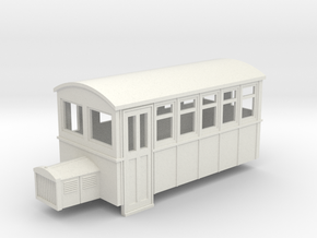 009 4 wheeled railbus version 1 in White Strong & Flexible