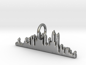 New York Skyline Pendant in Natural Silver