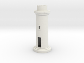 Opb10 - Small brittany lighthouse in White Strong & Flexible