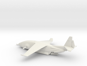 Zues C-135 warplane (small) in White Natural Versatile Plastic