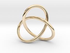 Escher Knot Pendant in 14K Yellow Gold