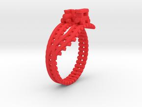 Train Nr4 Ring in Red Processed Versatile Plastic