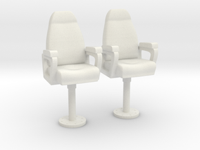 1/32 USN Capt Chair in White Natural Versatile Plastic