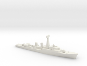 Tribal-class frigate, 1/1800 in White Natural Versatile Plastic