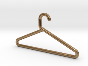 Hanger Keychain in Natural Brass