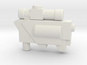 MEGA - Classics Megatron Gun Mode  in White Natural Versatile Plastic