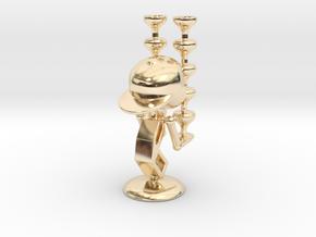 "LaLa ""Balancing Wine Glass"" - DeskToys in 14K Yellow Gold"