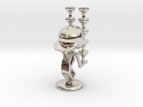 "LaLa ""Balancing Wine Glass"" - DeskToys in Rhodium Plated Brass"