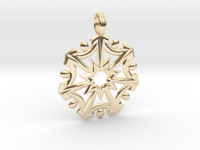 SEVEN SISTERS OF LIGHT in 14k Gold Plated Brass