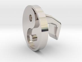 iMac Camera Cover - Yin Yang in Rhodium Plated Brass