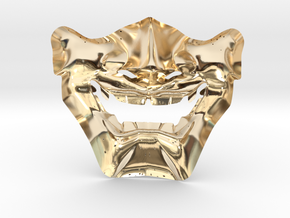 Samurai Mask High Quality in 14K Yellow Gold