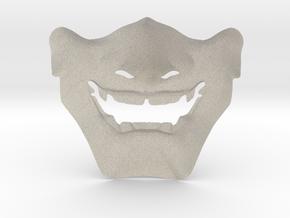 Samurai Mask High Quality in Natural Sandstone