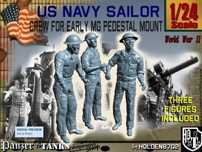 1-24 USN Early MG Mount Crew Set1 in White Strong & Flexible