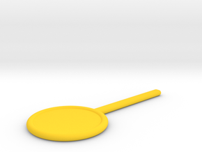 DIY Lollipop Paddle Trick in Yellow Processed Versatile Plastic