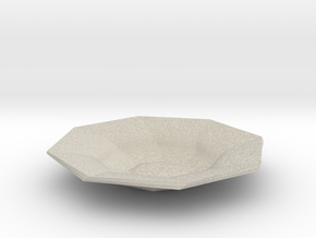 Sharp edges plate in Natural Sandstone