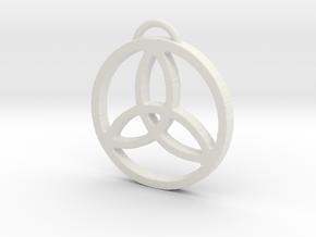 Elegant Triquetra by ~M. in White Natural Versatile Plastic