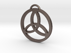 Elegant Triquetra by ~M. in Polished Bronzed Silver Steel
