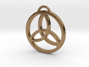 Elegant Triquetra by ~M. in Natural Brass