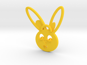 Rabbit pendant in Yellow Strong & Flexible Polished