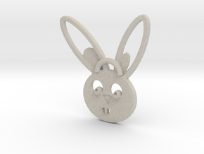 Rabbit pendant in Natural Sandstone