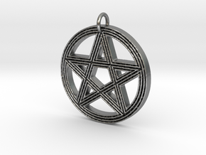 Grooved Pentacle by ~M. in Natural Silver