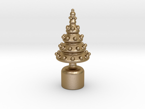 Christmas Ornament For Cork Stopper in Polished Gold Steel
