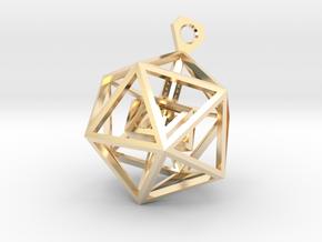 Geometric Tower Pendant in 14K Yellow Gold