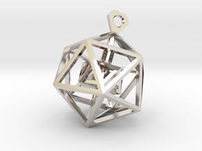 Geometric Tower Pendant in Platinum