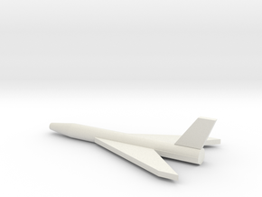 Northrop XSSM-A-5 Missile Early Concept in White Natural Versatile Plastic