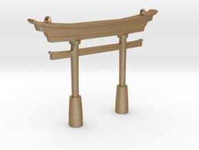 Torii Traditional- Pendant in Matte Gold Steel