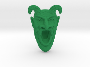 Tomb of Horrors Demon Face in Green Processed Versatile Plastic