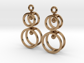 Double Double  -- Earrings in Interlocking metal in Interlocking Polished Brass