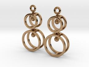Double Double  -- Earrings in Interlocking metal in Polished Brass (Interlocking Parts)