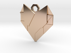 Paper Heart in 14k Rose Gold Plated Brass