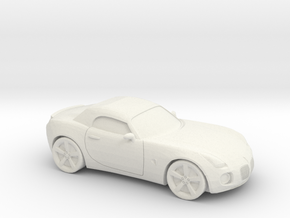 1/87 2005-09 Pontiac Solstice Roadster in White Natural Versatile Plastic
