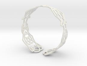 Celtic knots Cuff 4 in White Natural Versatile Plastic: Extra Small