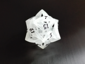 Curlicue 20-Sided Dice in Frosted Ultra Detail