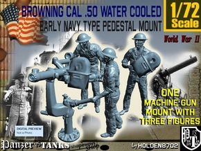 1-72 USN Cal 50 M2 WC & Crew Set in Smooth Fine Detail Plastic